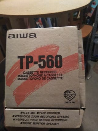 Grabador reproductor cinta casete AIWA TP 560
