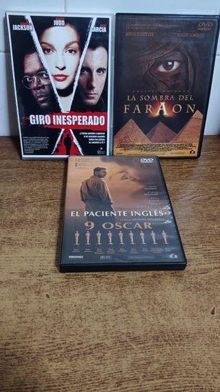 3 Películas DVD originales