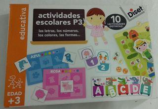 juego educativo: actividades escolares P3.