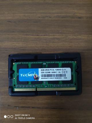 Memoria RAM 8GB DDR3L 1600 SODIMM PC3-12800S CL11