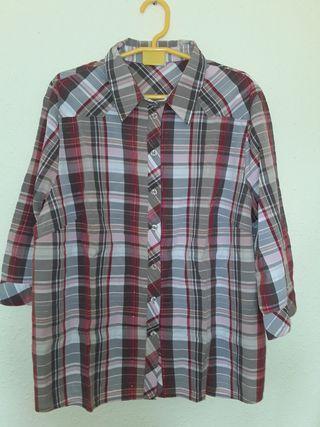 camisa talla grande