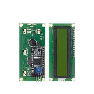 Pantalla LCD 1602 de 16x2 verde interfaz IIC I2C