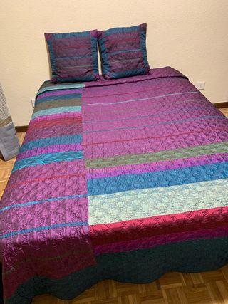 Colcha cama 1,50 cm con cojines