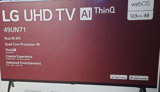 LG smart tv 49 pulgadas a estrenar.