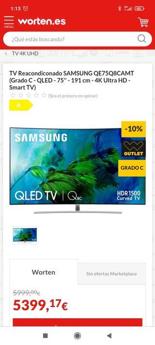 Tv Samsung 75 Q8CAM 4K Qled