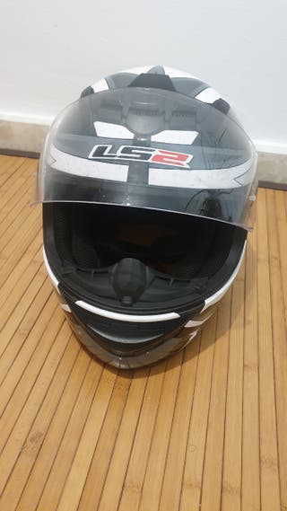 casco integral moto talla L