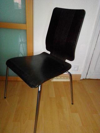 2 sillas madera Ikea comedor escritorio