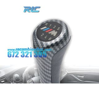 POMO BMW LOOK M CARBONO LARGO 6 VELOCIDADES