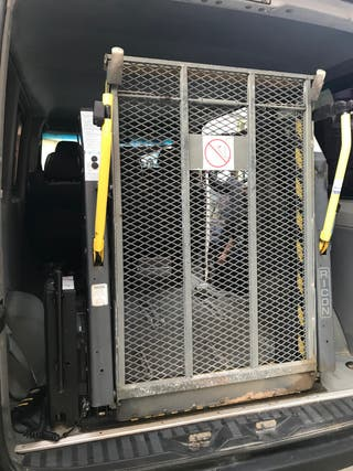 Rampa de acceso para silla de ruedas eléctrica