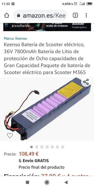 batería para patinete eléctrico ess watt e2