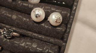 Pendientes Tous Perla y plata medianos