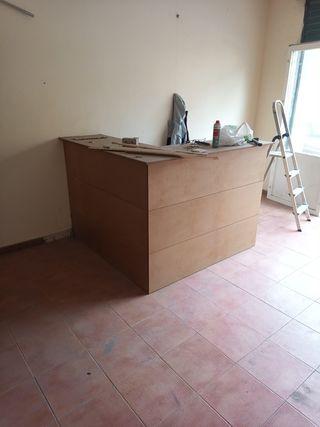 mostrador de madera para oficina