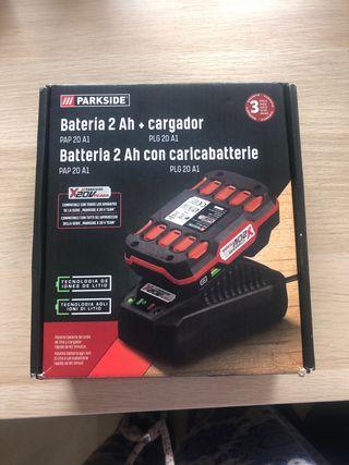Batería y cargador Parkside 2Ah