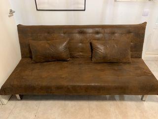 Sofa Cama - Antelina Marrón 2 plazas