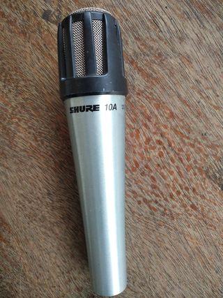 micrófono Shure 10a + cable