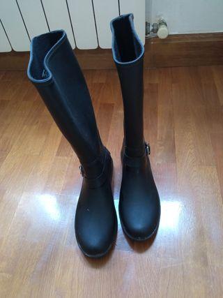 botas de agua-catiuscas negras