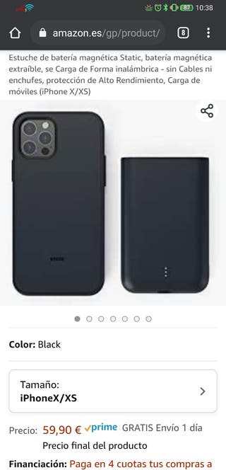 Estuche batería magnética Static iPhone XS 5000mha