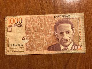 Billetes 1000 Pesos Colombianos
