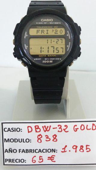 RELOJ CASIO DBW-32 GOLD TELEMEMO