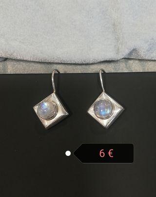 Pendientes plata con piedra