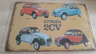 CITROEN 2CV Cartel metálico