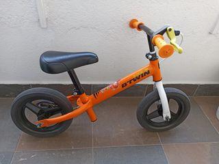 Bicicleta sin pedales infantil 10 pulgadas. Freno