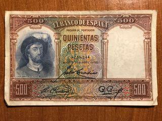 Billetes 500 Pesetas Republica Española