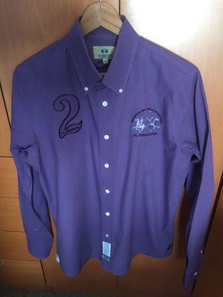 Camisa lila La Martina