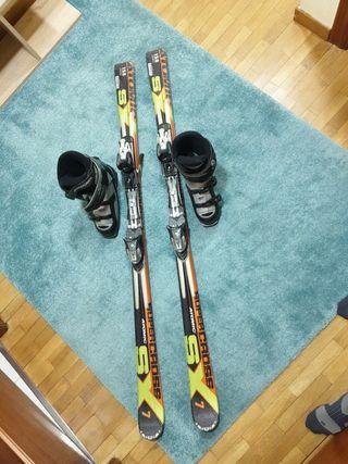 esquís atomic y botas rossignol