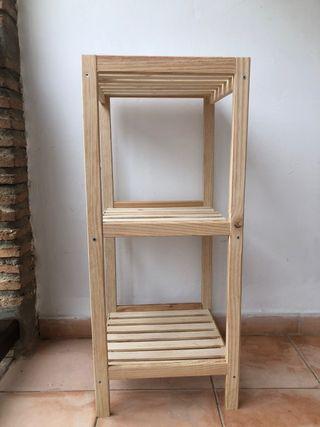 Estantería madera natural 3 baldas