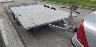 Remolque plataforma menos 750 kg