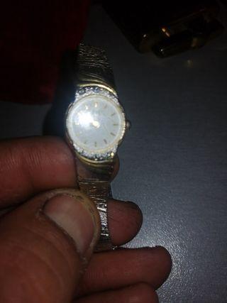 reloj vintage citizen en plata y oro de mujer