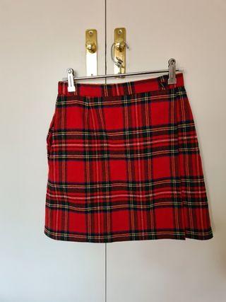 Falda escocesa recta