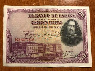 Billetes Republica Española 50 Pesetas