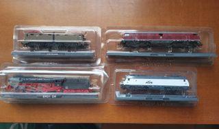 Lote vagones locomotoras trenes nuevos Escala N