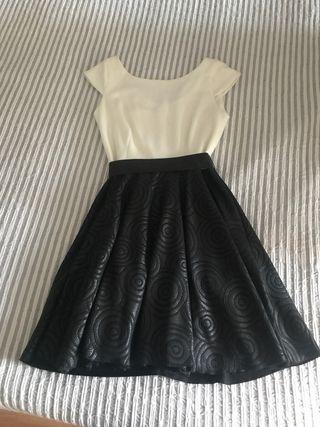 Vestido blanco y negro fiesta talla 40