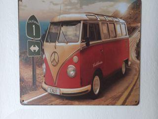 Cartel metálico decoración Wolkswagen T1