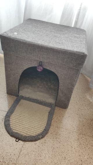 cueva puff para gatos