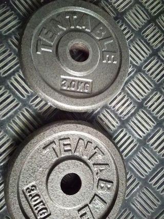 2 pesas de 3kg 28mm