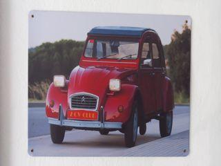 Cartel metálico decoración Citroen 2CV