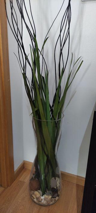 Jarrón planta decorativa grande