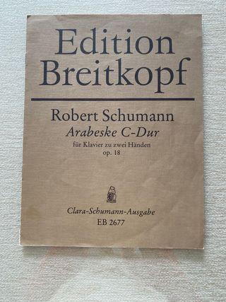 Schumman. Arabesca para piano Op. 18