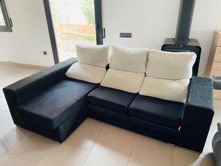 Sofá-cama 3 plazas con chaise-longe