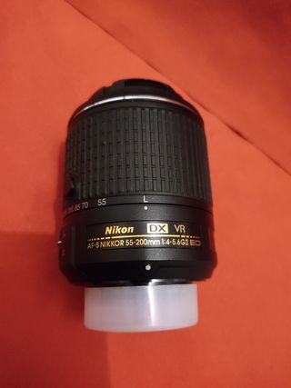 Objetivo Nikon 55/200 mm