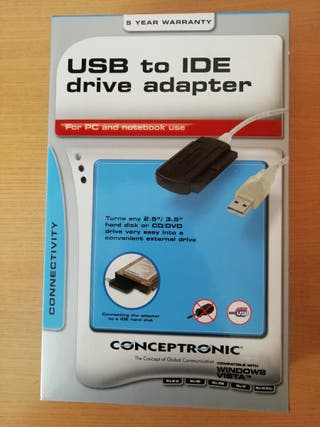 Adaptador USB 2.0 a IDE para Disco Duro 2.5/3.5
