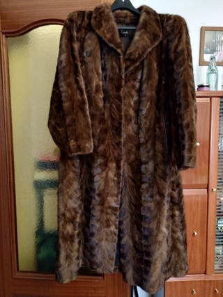 Abrigo de piel de visón auténtico