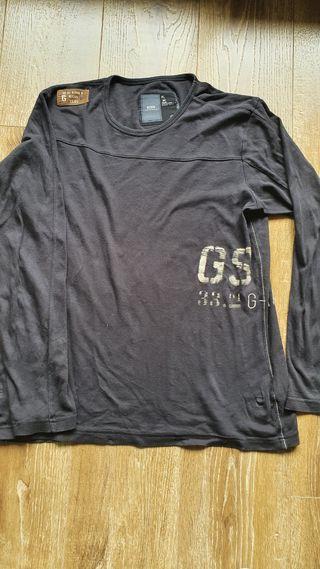 camiseta manga larga negra G star