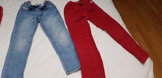 pantalon vaquero y pana este de gocco niña T.3-4