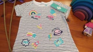 Camiseta manga corta nueva talla 23 de rayas