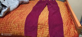 Pantalón de pana granate niña